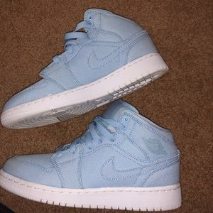 high top baby blue nike's